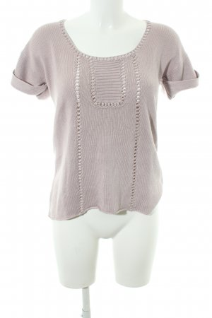 Kookai Camisa tejida rosa empolvado look casual