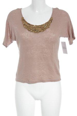 Kookai Camisa tejida rosa empolvado-lila grisáceo estilo extravagante