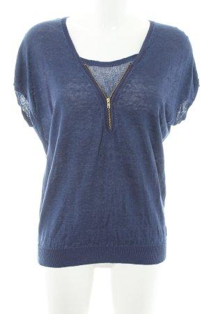 Kookai Camisa tejida azul Óptica 2 en 1