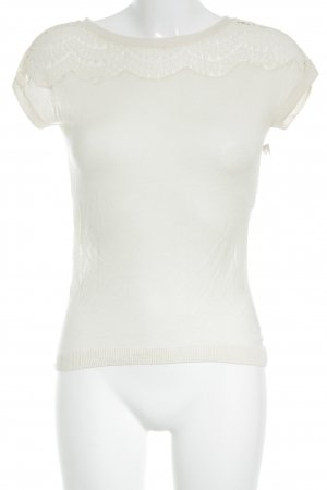 Kookai Knitted Jumper cream lace look
