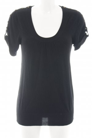 Kookai Strickshirt schwarz Casual-Look
