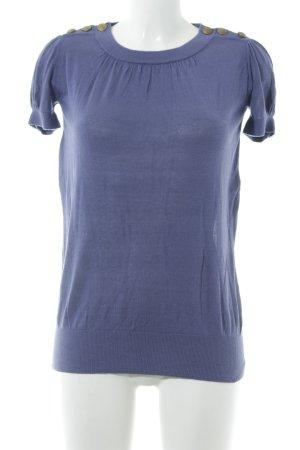 Kookai Strickshirt grauviolett Antik-Look