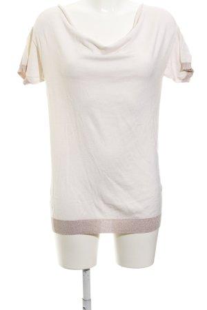 Kookai Strickshirt roségoldfarben-creme Casual-Look