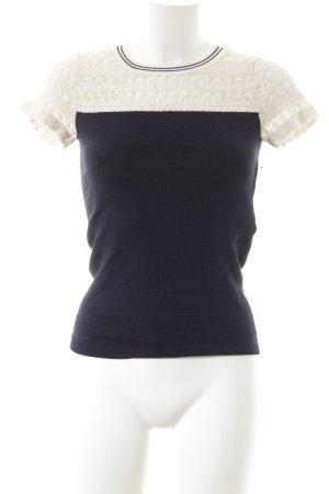 Kookai Knitted Jumper natural white-dark blue Brit look