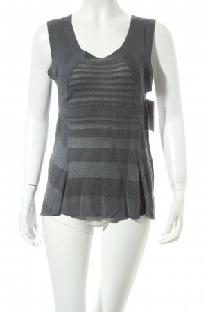 Kookai Knitted Top grey striped pattern casual look
