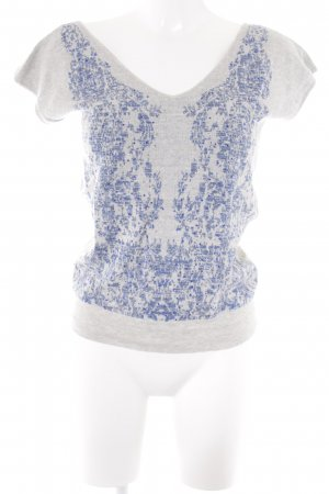 Kookai Knitted Top light grey-blue abstract pattern casual look