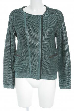 Kookai Sweat Jacket dark green-turquoise wet-look
