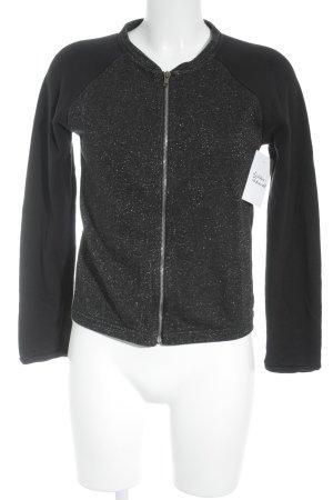 Kookai Chaqueta de tela de sudadera negro-color plata look casual