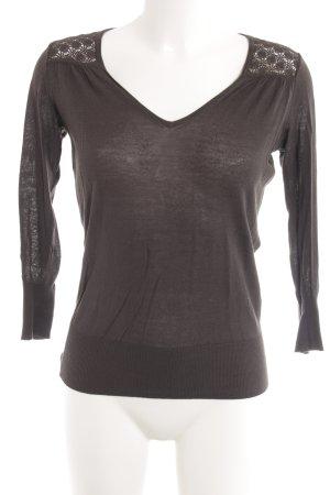 Kookai Sweatshirt graubraun Casual-Look