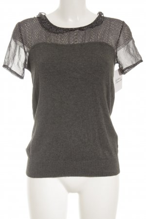 Kookai T-Shirt grau-dunkelblau Farbtupfermuster Casual-Look