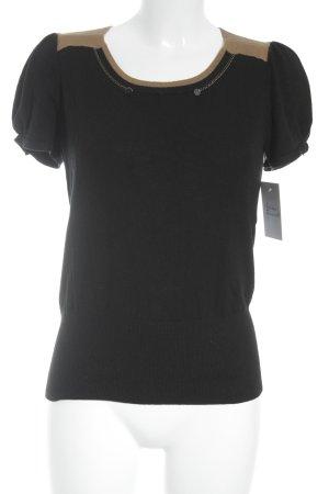Kookai T-Shirt schwarz-bronzefarben Casual-Look