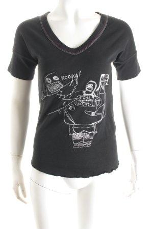 Kookai T-Shirt schwarz-weiß Casual-Look