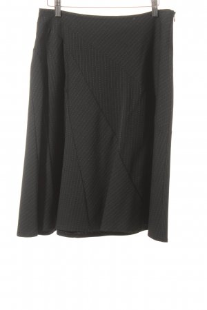 Kookai Falda circular negro raya diplomática estilo clásico