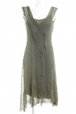 Kookai Vestido tipo overol gris verdoso look casual