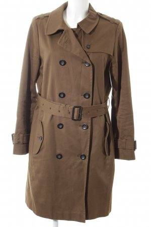Kookai Trenchcoat graubraun Street-Fashion-Look