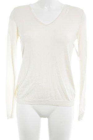 Kookai V-Ausschnitt-Pullover creme Casual-Look