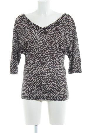 Kookai V-Ausschnitt-Pullover Leomuster Casual-Look