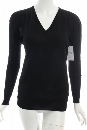 Kookai V-Ausschnitt-Pullover schwarz Casual-Look
