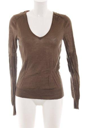 Kookai T-shirt col en V brun style décontracté