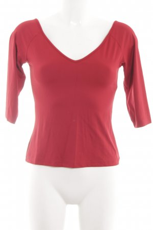 Kookai V-Ausschnitt-Shirt rot Casual-Look