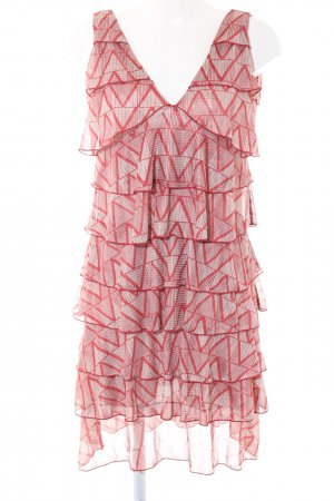 Kookai Flounce Dress red-natural white abstract pattern casual look