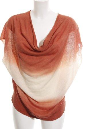 Kookai Top col bénitier blanc cassé-orange clair gradient de couleur