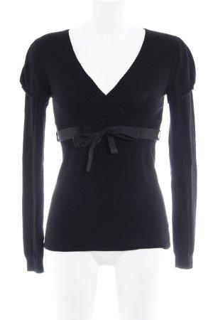 Kookai Blusa cruzada negro elegante