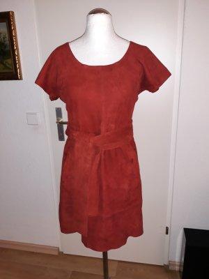 Kookai Leren jurk veelkleurig