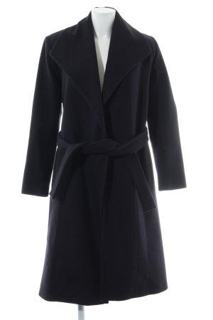 Kookai Abrigo de lana azul oscuro elegante
