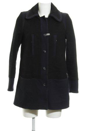 Kookai Abrigo de lana negro-azul oscuro look casual