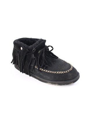 Koolaburra Botas de tobillo negro estilo extravagante