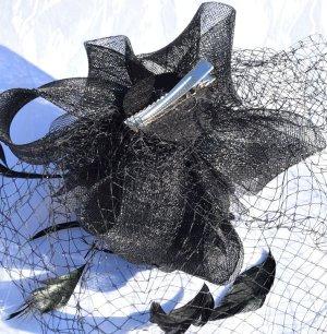 Haarklem zwart kunststof