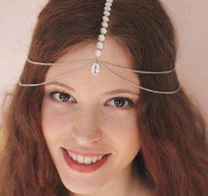 Bijoux pour la tête doré-blanc