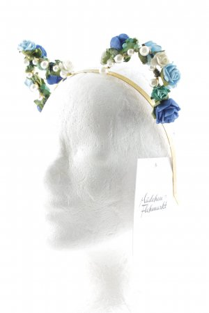 Headdress gold-colored-blue extravagant style