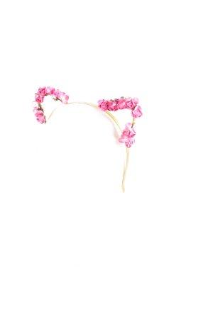 Kopfschmuck goldfarben-rosa extravaganter Stil