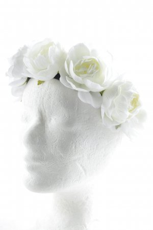 Bijoux pour la tête blanc-noir style extravagant