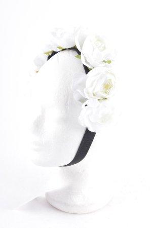 Kopfschmuck weiß-schwarz extravaganter Stil