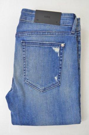 KORAL Damen Jeans Denim Mod.Skinny col.12 Month Dirty Destroyed Blau Stretch 31
