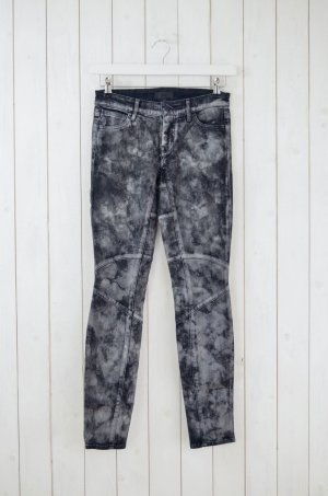 KORAL Damen Jeans Mod.Moto Skinny Biker-Style Anthrazit Schwarz Batik Gr.26