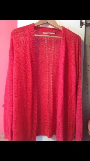 Only Cardigan en crochet rouge clair