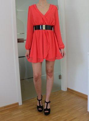 Koralfarbenes Kleid von JustFab