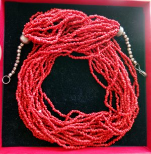 Korallen Halskette Vintage