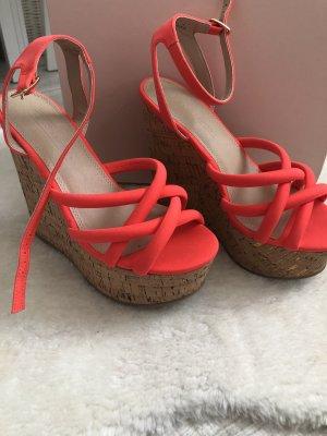 Asos Platform Sandals salmon-neon orange