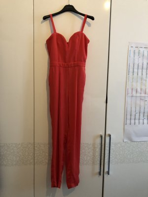 H&M Divided Trouser Suit bright red viscose