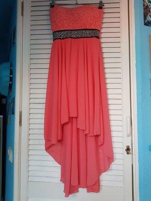 Vestido de baile salmón-rojo claro