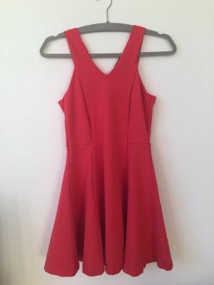 Korallenrotes Sommerkleid von Zara
