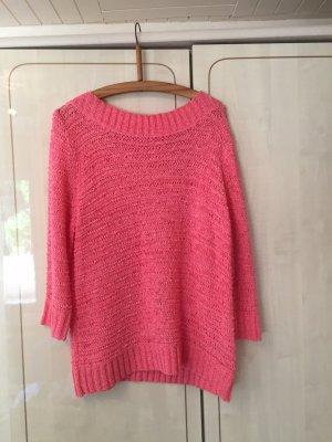 Korallfarbender Baumwoll-Pullover - ein echter Hingucker