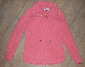 korallfarbene flamingofarbene  lachsfarbene Jacke von ONLY in Gr. XS - wie neu!