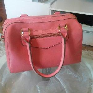 korallfarbene Handtasche