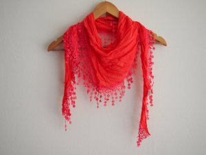 Fringed Scarf multicolored cotton